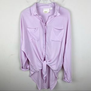 Anthropologie Maeve Tuesday Blouse Pink Sz Small